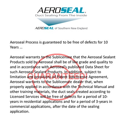Aeroseal Guarantee